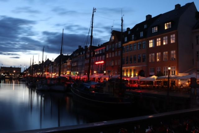 Denmark - Copenhagen - Nyhavn - By night