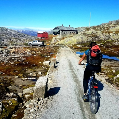 Biking from Finse to Flam - Norway
